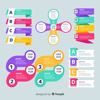 Modelo de infográfico colorido design plano