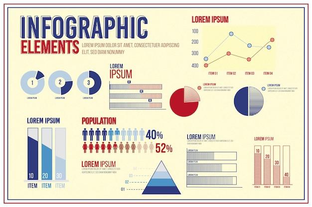 Modelo de infográfico colorido vintage