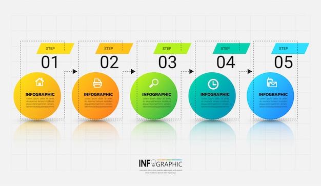 Modelo de infográfico com conceito de estrutura de tópicos