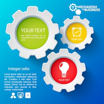 Modelo de infográfico com ícones de negócios