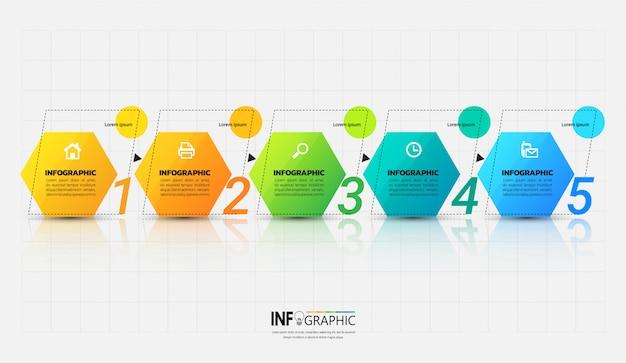 Modelo de infográfico com o conceito de estrutura de tópicos.