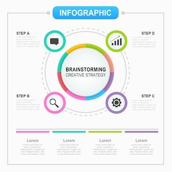 Modelo de infográfico com opções