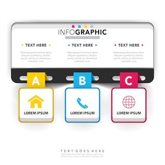 Modelo de infográfico corporativo