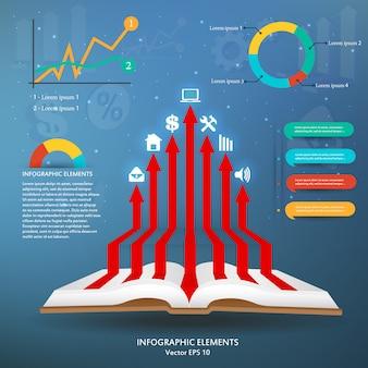 Modelo de infográfico criativo com elementos