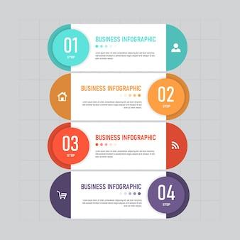 Modelo de infográfico criativo de 4 etapas