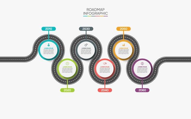 Modelo de infográfico de apresentação de negócios com opções