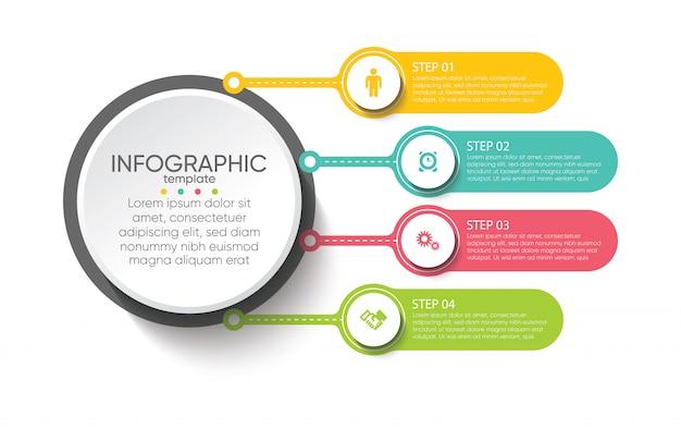 Modelo de infográfico de apresentação de negócios