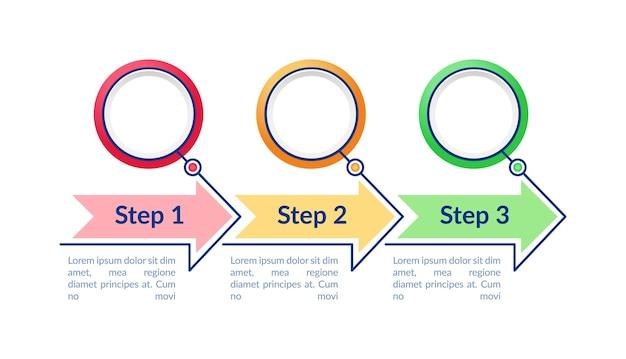 Modelo de infográfico de círculos coloridos