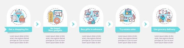 Modelo de infográfico de compras inteligente