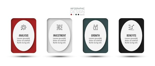 Modelo de infográfico de conceito de negócio com opção