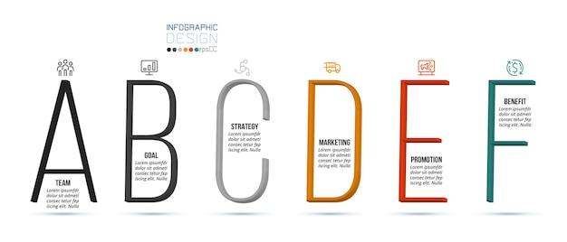Modelo de infográfico de conceito de negócio com opção.