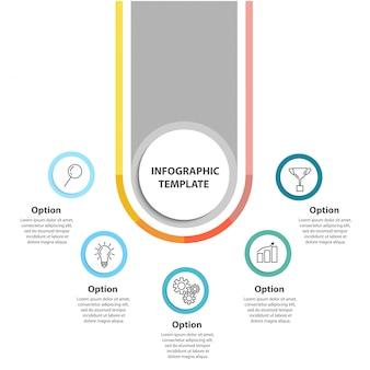 Modelo de infográfico de conceito de negócio.