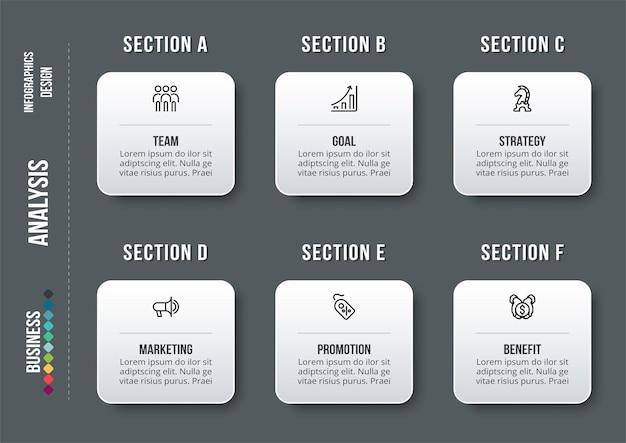 Modelo de infográfico de conceito de negócio