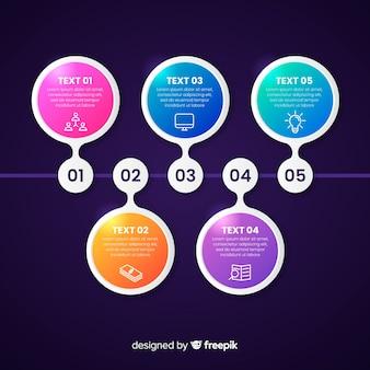 Modelo de infográfico de cronograma de negócios de apresentação