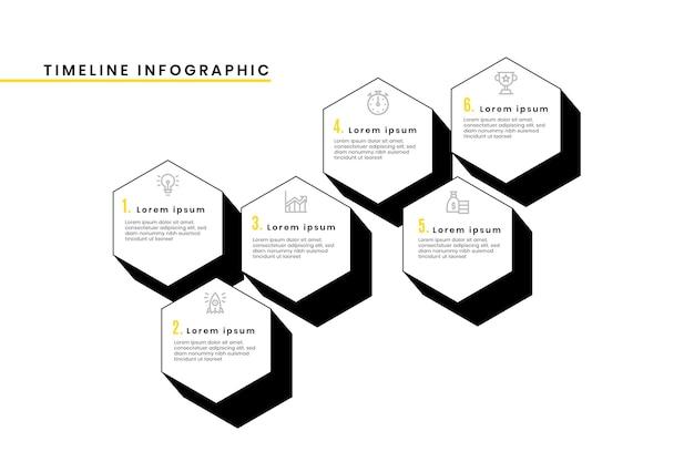 Modelo de infográfico de cronograma