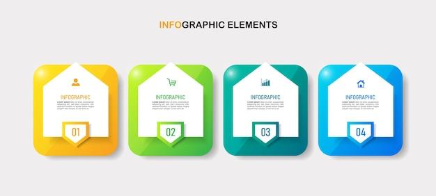 Modelo de infográfico de design moderno