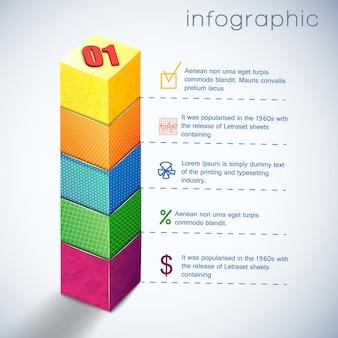 Modelo de infográfico de diagrama de negócios para apresentação