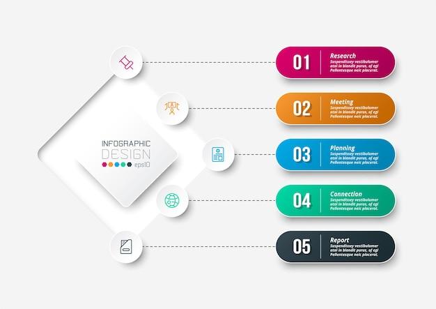 Modelo de infográfico de diagrama de negócios