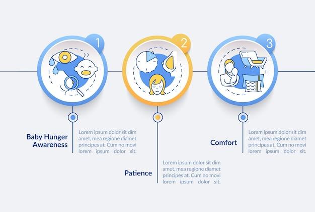 Modelo de infográfico de dicas de amamentação