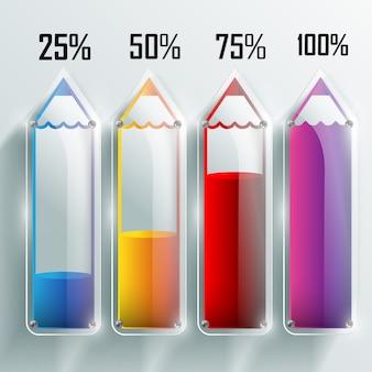 Modelo de infográfico de educação