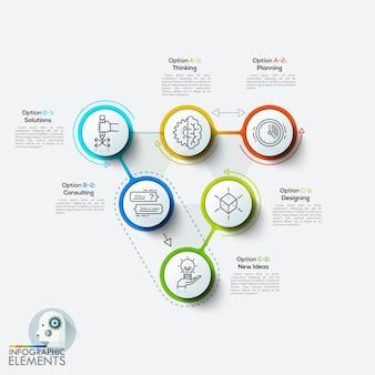 Modelo de infográfico de estilo minimalista de design moderno