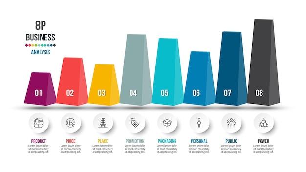 Modelo de infográfico de fluxo de trabalho de negócios em pirâmide