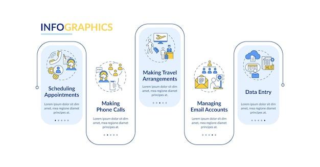 Modelo de infográfico de gestão administrativa