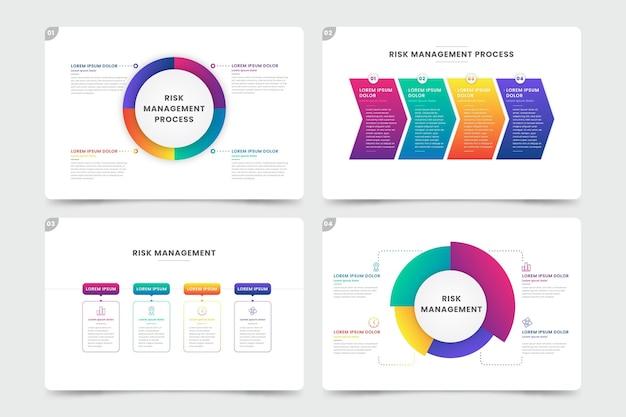 Modelo de infográfico de gestão de riscos