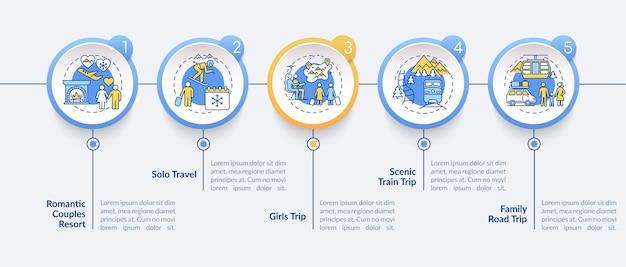 Modelo de infográfico de ideias para férias de inverno