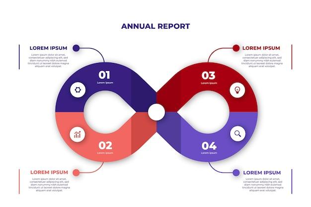 Modelo de infográfico de loop infinito