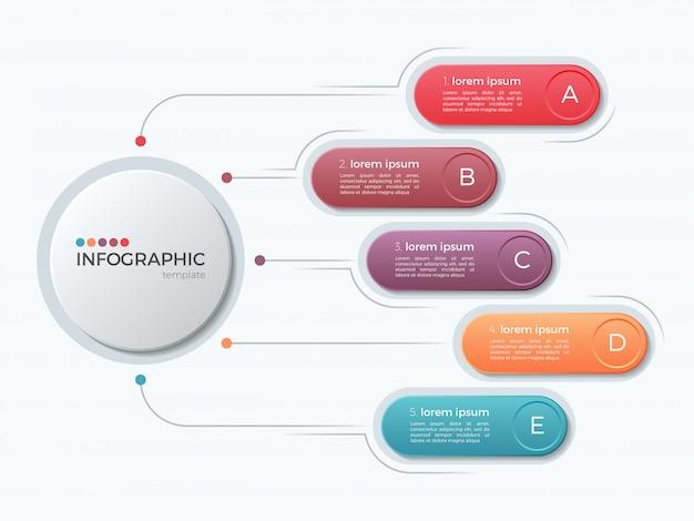 Modelo de infográfico de negócios apresentação com opções.