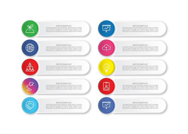 Modelo de infográfico de negócios coloridos