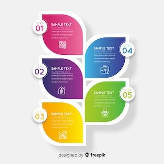 Modelo de infográfico de negócios corporativos, composição de elementos infográfico