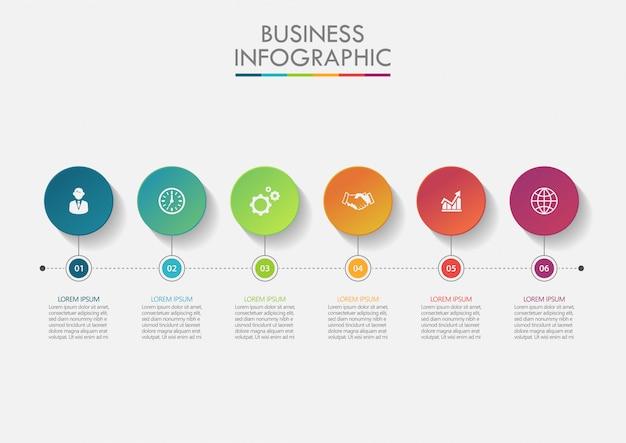 Modelo de infográfico de negócios de apresentação