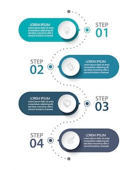 Modelo de infográfico de negócios de apresentação.