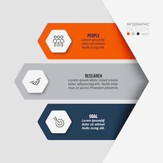 Modelo de infográfico de negócios de fluxo de trabalho
