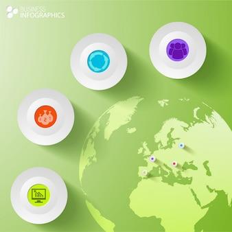 Modelo de infográfico de negócios digitais