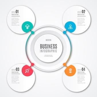 Modelo de infográfico de negócios modernos