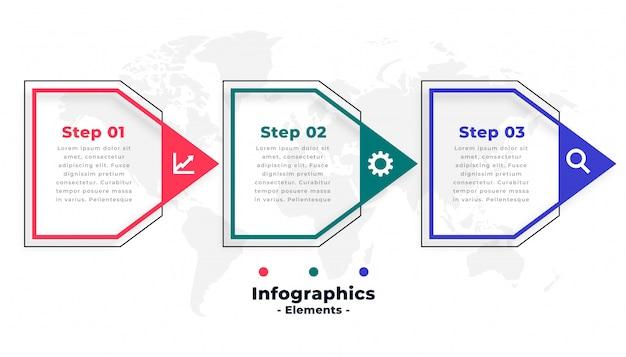 Modelo de infográfico de negócios no estilo da seta