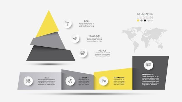 Modelo de infográfico de negócios ou conceito de marketing