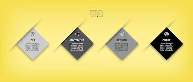 Modelo de infográfico de negócios ou marketing
