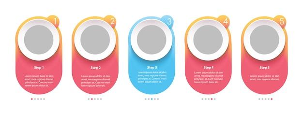 Modelo de infográfico de negócios para roteiro criativo