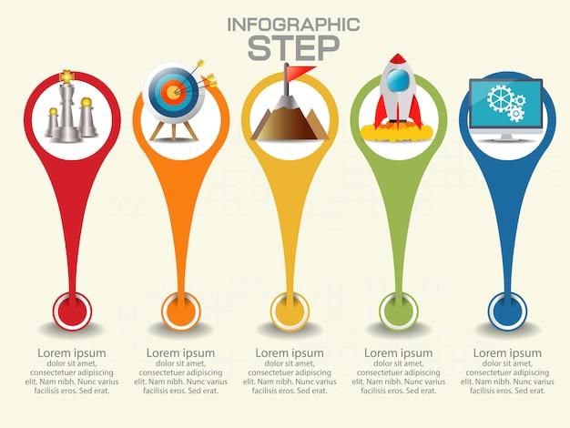 Modelo de infográfico de negócios. visualização de dados.