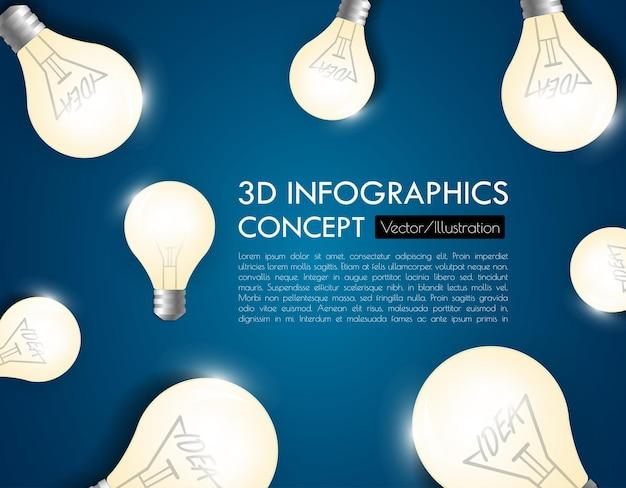 Modelo de infográfico de negócios. visualização de dados