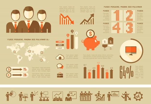 Modelo de infográfico de negócios.