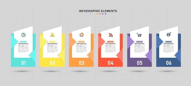 Modelo de infográfico de negócios