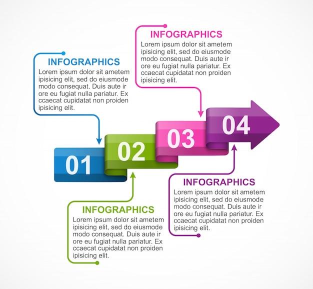 Modelo de infográfico de opções de negócios