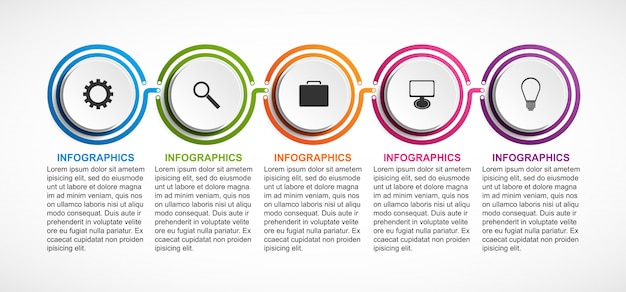 Modelo de infográfico de organização