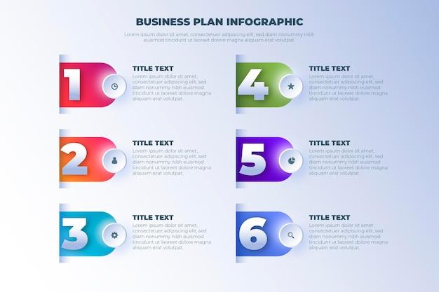 Modelo de infográfico de plano de negócios