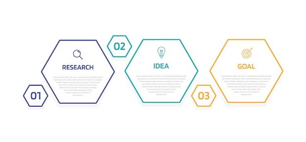 Modelo de infográfico de processo de negócios com opções ou etapas. layout de papel moderno com linha fina. gráfico de ilustração.